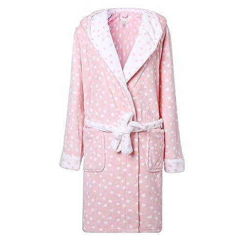 Richie House Women s Plush Soft Warm Fleece Bathrobe Robe RH1591 90c9fee84