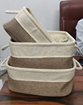 Baskets for organizing Baskets for Shelves Baskets for Gifts pantery Storage Bathroom organizing with Handles Light Brown ...