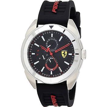 Ferrari Forza, Quartz Stainless Steel and Silicone Strap Casual Watch, Black, Men, 830546