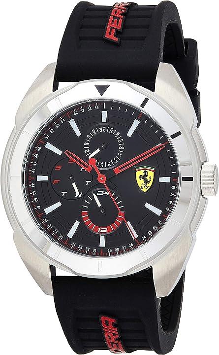 Orologio ferrari - scuderia ferrari orologio multi-quadrante quarzo uomo con cinturino in silicone 830546 0830546