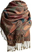 CARESEEN Womens Pashmina Paisley Scarf Tapestry Festival Scarves Ethnic Soft Shawls Wraps for Women Winter Print Scarves