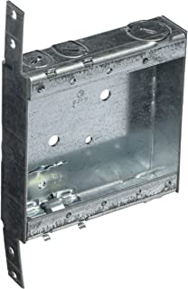 Hubbell-Raco 418 1-Inch Deep Switch Electrical Box, Welded with Side Stud Bracket, (2) 1/2-Inch End Knockouts, (4) NMSC Cable Clamps, 4-Inch x 4-Inch