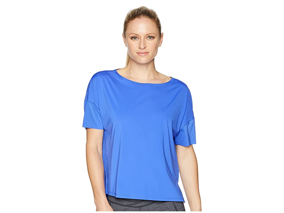 Reebok Perforated Tee (Acid Blue) Women