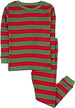 Leveret Kids Christmas Pajamas Boys Girls & Toddler Pajamas Red White Green 2 Piece Pjs Set 100% Cotton (12 Months-14 Years)