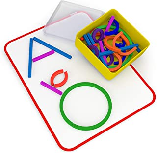 Osmo - Little Genius Sticks & Rings - Includes 2 Games - ABCs & Squiggle Magic - Ages 3-5 - Letter Formation, Fine Motor S...