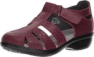 Propet Women's April Fisherman Sandal, Plum, 10 Narrow US