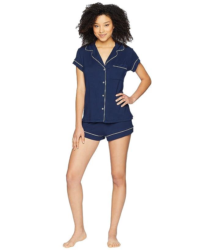 Eberjey Gisele Basics Short PJ Set (Navy/Ivory) Women
