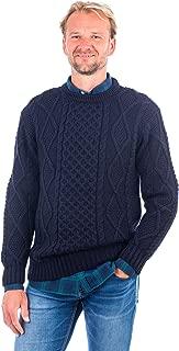 Irish Knitted Men Crew Neck Aran Sweater Pullover