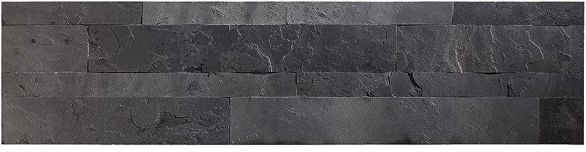 Aspect Peel and Stick Stone Overlay Kitchen Backsplash - Charcoal Slate (5.9