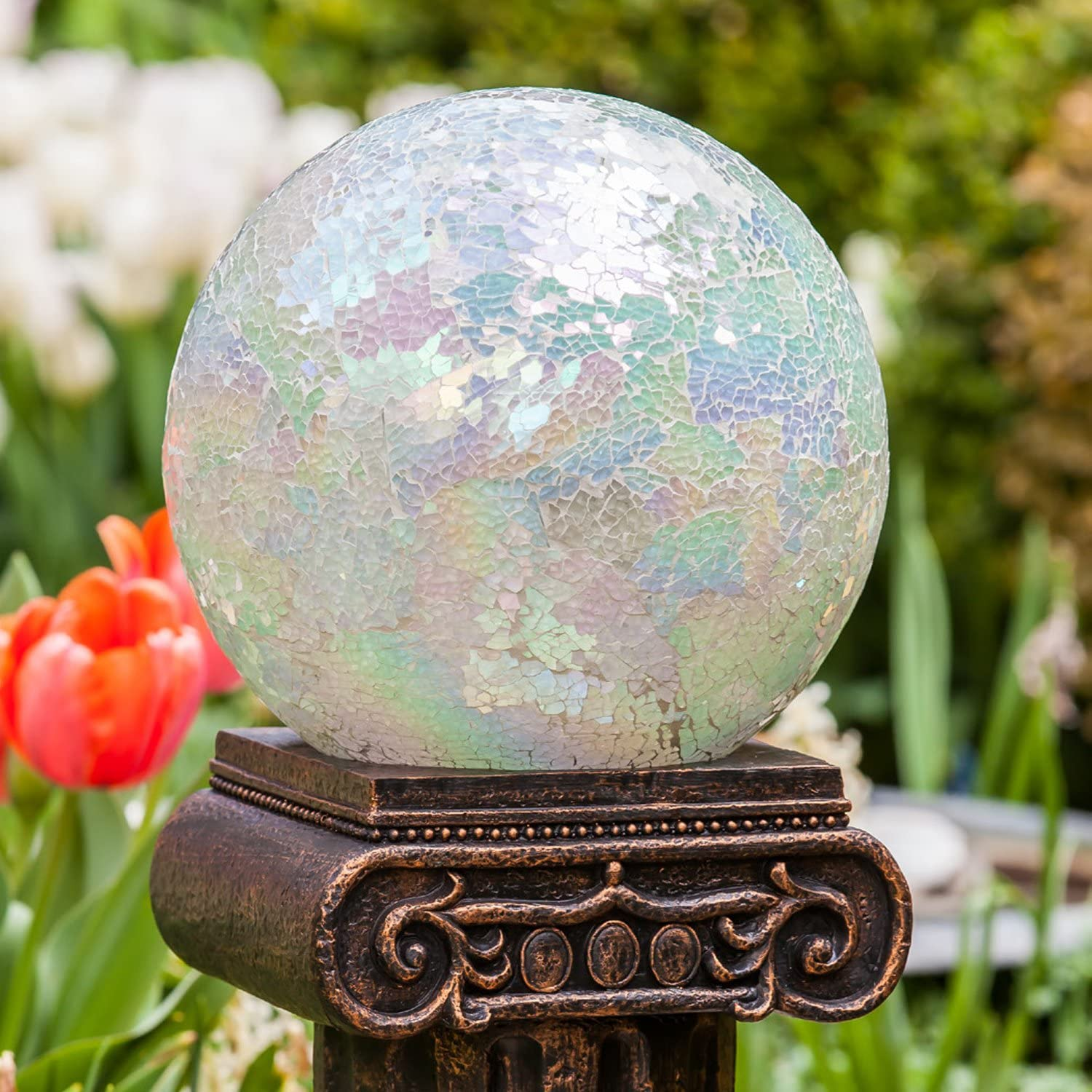 Glass Gazing Ball 10 inch Globe Colorful for OFFer Mosaic Special price for a limited time