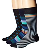 Paul Smith - 3-Pack Stripes & Dots Socks