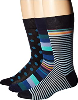 3-Pack Stripes & Dots Socks