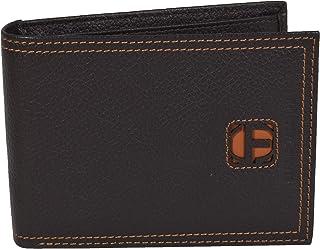 Sergio Tacchini - Portefeuille homme en cuir véritable, noir, fin avec porte-cartes, boîte cadeau