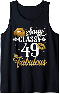 49 Years Old Sassy Classy Fabulous  Tank Top
