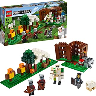 LEGO 21159 Minecraft The Pillager Outpost Action Figures Building Set, Iron Golem Adventure Toy for Kids 8+ Years Old