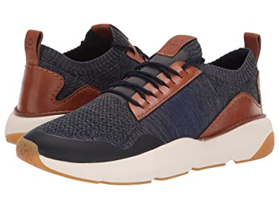 Cole Haan ZEROGRAND All-Day Trainer with Stitchlite (Marine Blue Knit/Cole Haan British Tan/Ivory/Gum) Men