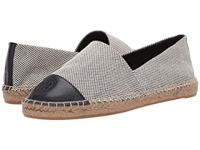 Tory Burch Color Block Flat Espadrille (Perfect Navy/Perfect Navy) Women