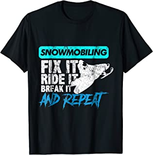 Vintage Snowmobile TShirt Snowmobiling Gear Fix It Ride It