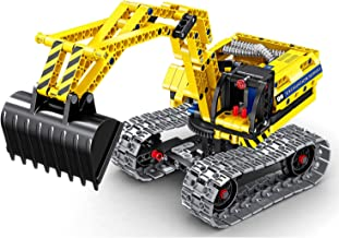 Bo Toys Building Bricks STEM Toy, 342 Pcs Excavator & Robot Construction Blocks, Build It Yourself Toys