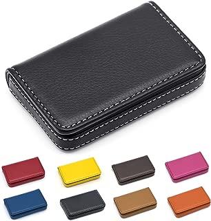 padike piel negocio nombre tarjeta cartera/Soporte Para 25tarjetas 3.9L X 2,8W pulgadas con cierre magnético.