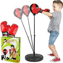 کیسه پلاستیکی ToyVelt برای کودکان و نوجوانان - مجموعه ی بوکس ویللس، پانچ کیسه با پایه و پمپ - پایه قابل تنظیم ارتفاع، نصب آسان و طراحی طراحی قابل حمل برای پسران و دختران سن 3-14 ساله