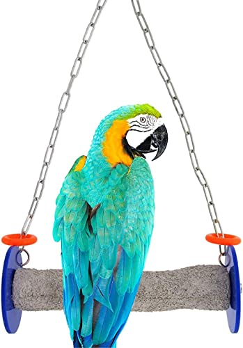 Sweet Feet and Beak Roll Swing and Perch for Birds, Keeps Nails and Beak in Top Condition and Stimulate Leg Muscles -...