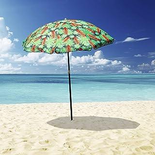 Outdoor Garden Beach Umbrella Mossman / Makena1.8m Sun Shade w/Carry Bag Tilt Pool Sun Protection AU (Mossman)