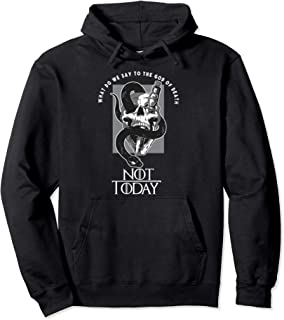 Not Today, God of death Skull and dagger design Pullover Hoodie