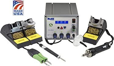 PACE MBT350 (MBT 350) Multi-Channel Soldering Desoldering & Rework Station (120 VAC) with SX-100 Desoldering Iron TD-100A Soldering Iron MT-100 MiniTweez Thermal Tweezer AND TIPS