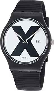 Swatch Reloj Analógico para Unisex Adultos de Cuarzo con Correa en Silicona SUOB402