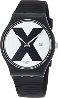 Swatch XX-Rated Black White Dial Men's Watch SUOB402