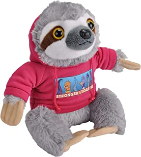 Wild RepublicStronger Together,Sloth, Hoody,Stuffed Animal,8inches, Gift for Kids,Gift for First Responders,Plush T...