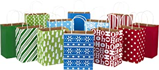 Hallmark Medium Holiday Gift Bag Assortment, Holiday Icons (12 Paper Gift Bags)