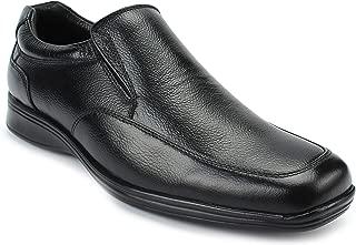 AvantHier Black Slip On Comfortable Genuine Leather Formal Shoes for Men's/Boys