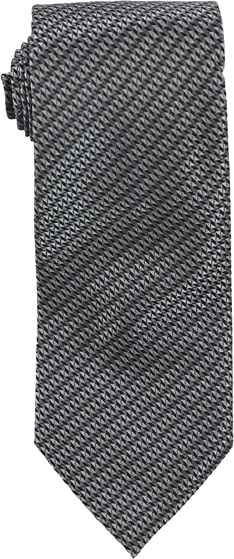 Geoffrey Beene Mens Micro Sun Neat Self-tied Necktie, Black, One Size