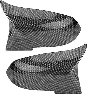 1 Paar Rückspiegelabdeckung Kappe Flügelspiegelabdeckung Passend für 220i 328i 420i F20 F21 F22 F30 F32 F33 F36 X1 E84 Mehrere Stile zur Auswahl (Carbon Grain Black)