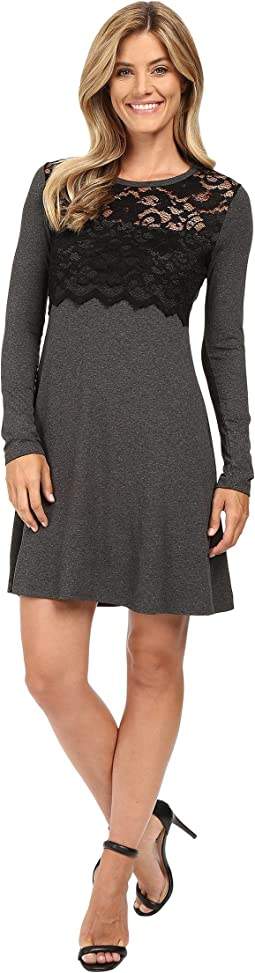 Scallop Lace Overlay Dress