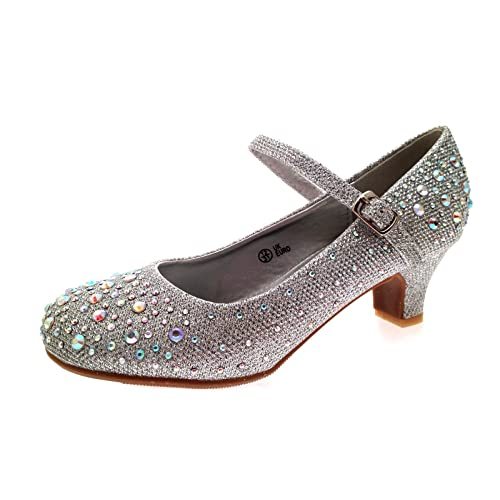 92b6bc7e2d1a Lora Dora Girls Mary Jane Low Heel Glitter Party Shoes