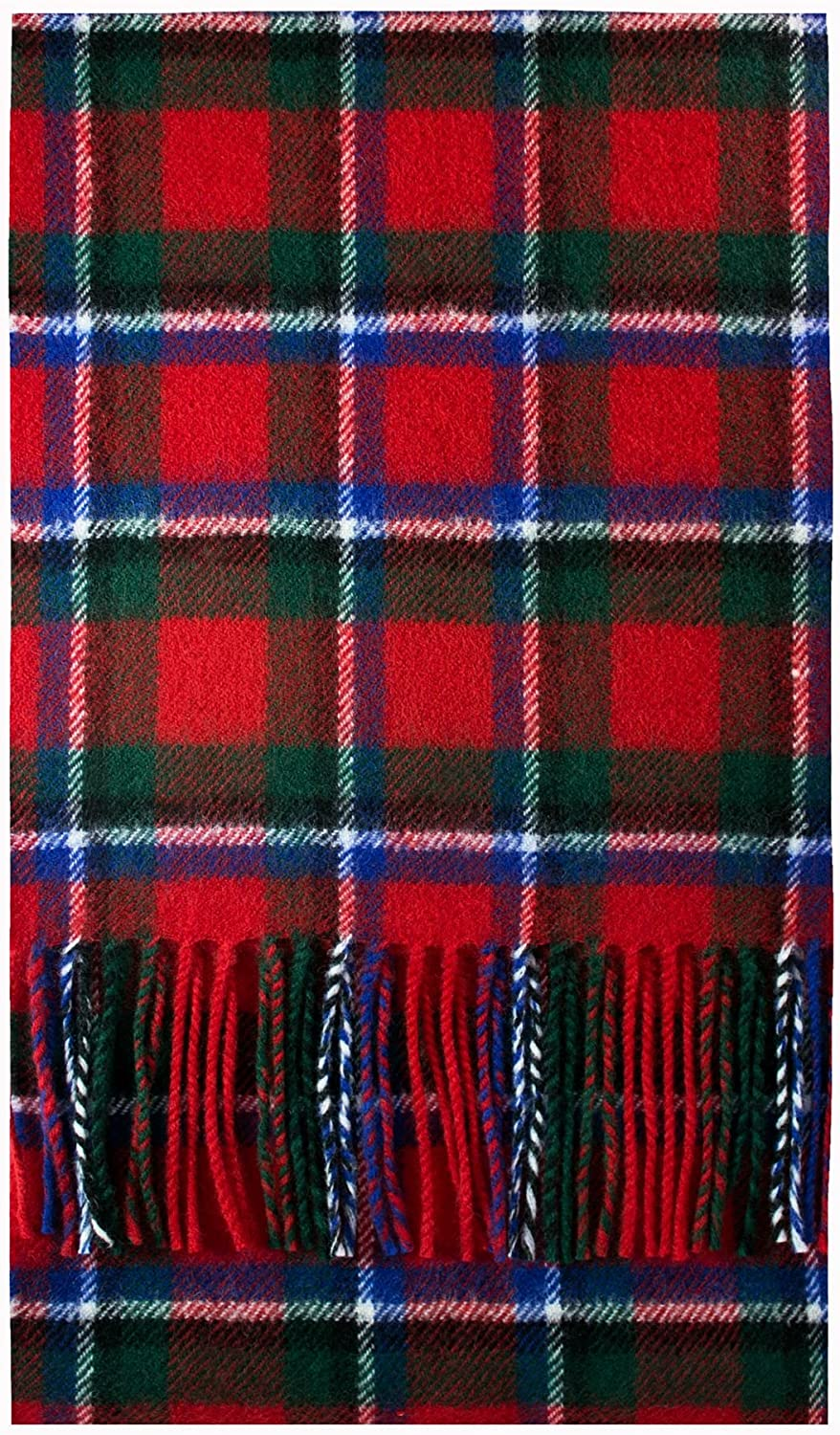 Sinclair Red Modern Tartan latest Brushwool Cheap mail order specialty store Scarf Luxury