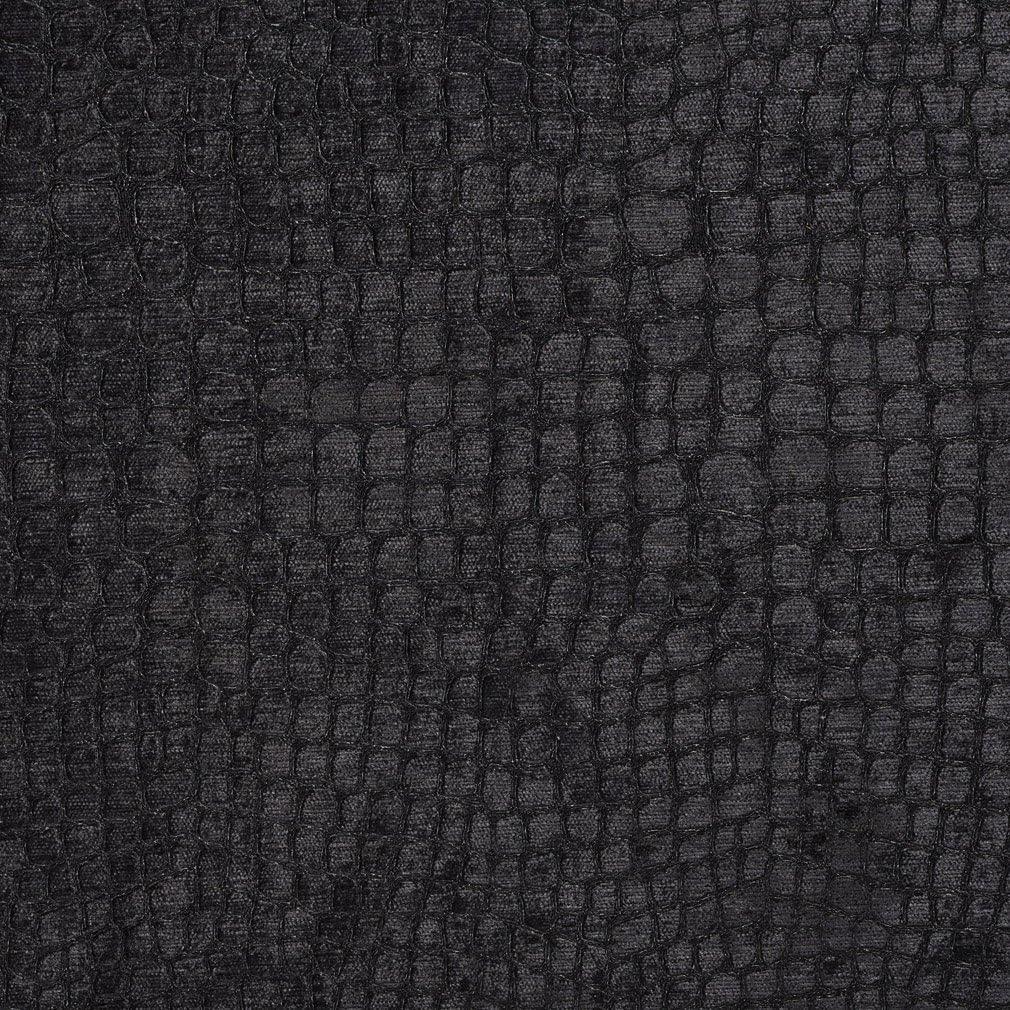 A0151R Black Textured Alligator Woven Velvet Max 50% Omaha Mall OFF Shiny Contemporary