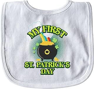 Inktastic My First St. Patrick's Day Baby Bib White