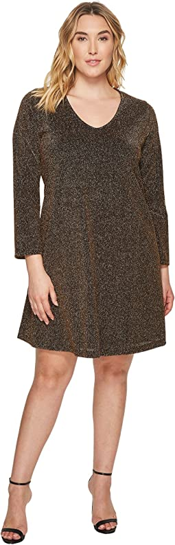 Plus Size Gold Knit Taylor Dress