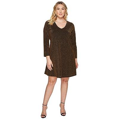 Karen Kane Plus Plus Size Gold Knit Taylor Dress (Gold) Women