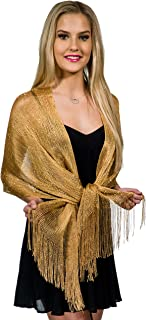 Shawls and Wraps for Evening Dresses, Metallic Glitter Shawls for Women, Sparkling Wedding Giving Shawl Gift by ShineGlitz