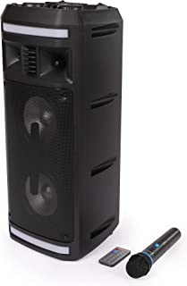 Impex P10 Portable Rechargeable Speaker With Wireless Mic, 10 Watts, Black