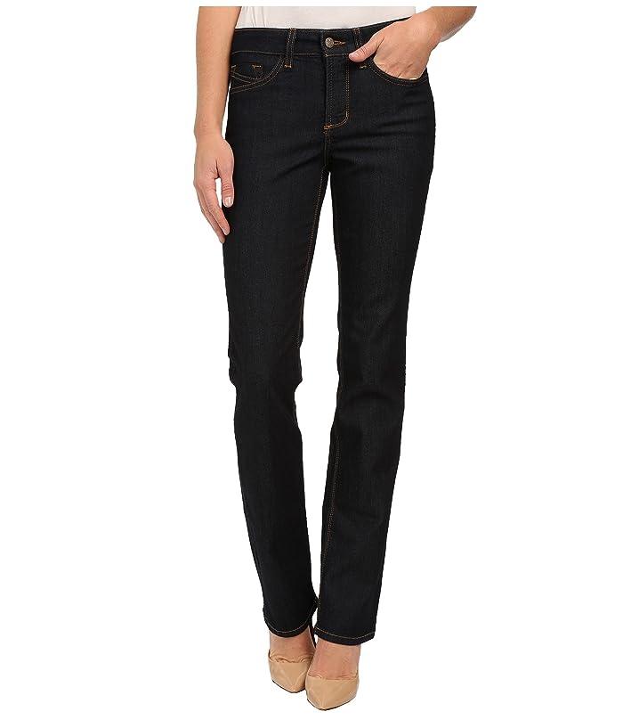 NYDJ Hayley Straight Contrast in Dark Enzyme (Dark Enzyme) Women's Jeans
