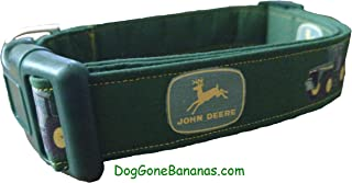 john deere green dog collar