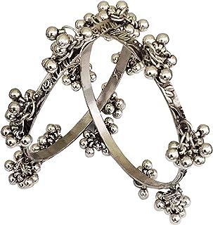 Total Fashion Oxidized Silver Kada Bracelet for Women's & Girl's