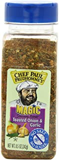 Chef Paul Prudhomme's Magic Seasoning Blends No Salt, Toasted Onion and Garlic, 8.5-Ounce
