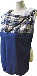 UVカット サマーケープ 抱っこ紐ひよけケープ フード付き ひんやり素材 (タータンチェック)